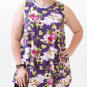 Tiered Tunic- Tropical Burst